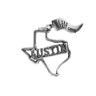 Austin Texas Sterling Silver Charm