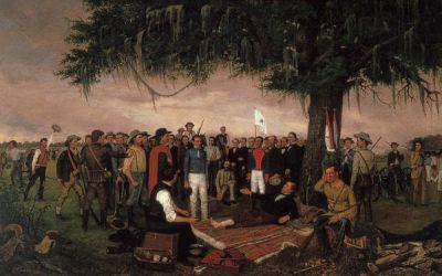 William Henry Huddle The Surrender of Santa Anna, 1886