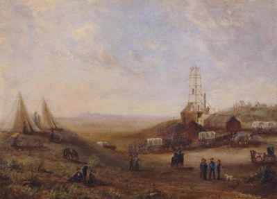Harry S. Sindall Captain John Pope and Party at Artesian Well Drilling Site, 1857-1858
