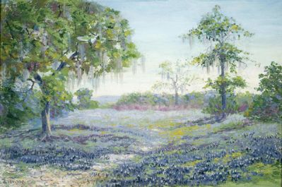 Janet Downie Landscape with Bluebonnets, c. 1905