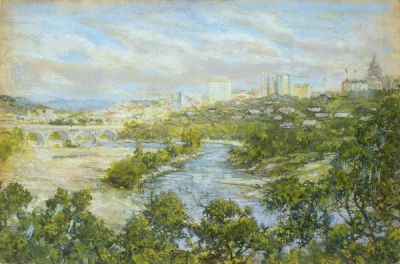 Raymond Everett View of Austin, 1917
