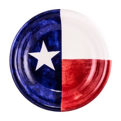 Brookwood Community Pottery Texas Flag Ceramic Serving Bowl