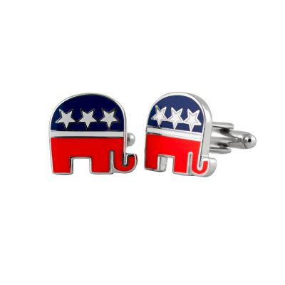 Republican Silver Tone Cuff Links