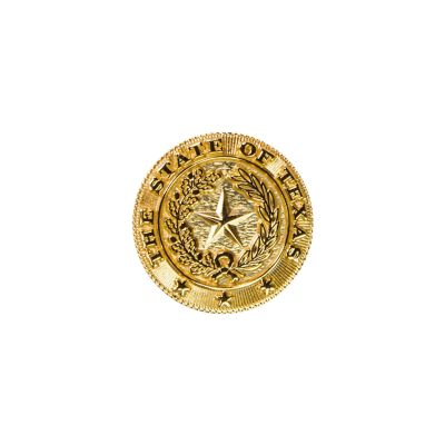Texas State Seal Brass Lapel Pin