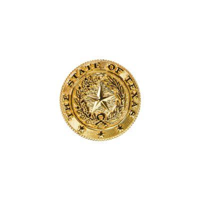 Texas State Seal Brass Lapel Pin