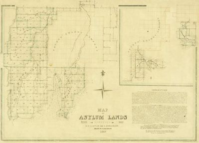 R. Creuzbaur Map of Asylum Lands - Callahan County, 1857