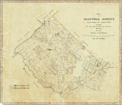 W. von Rosenberg Map of Caldwell County, 1861