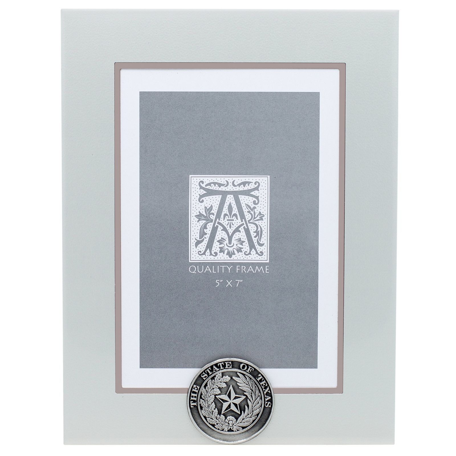 State Seal Silver Metal Photo Frame - 5x7 Vertical