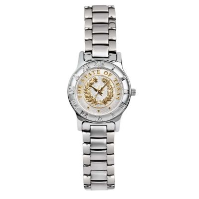 State Seal Silver Tone Women's Watch