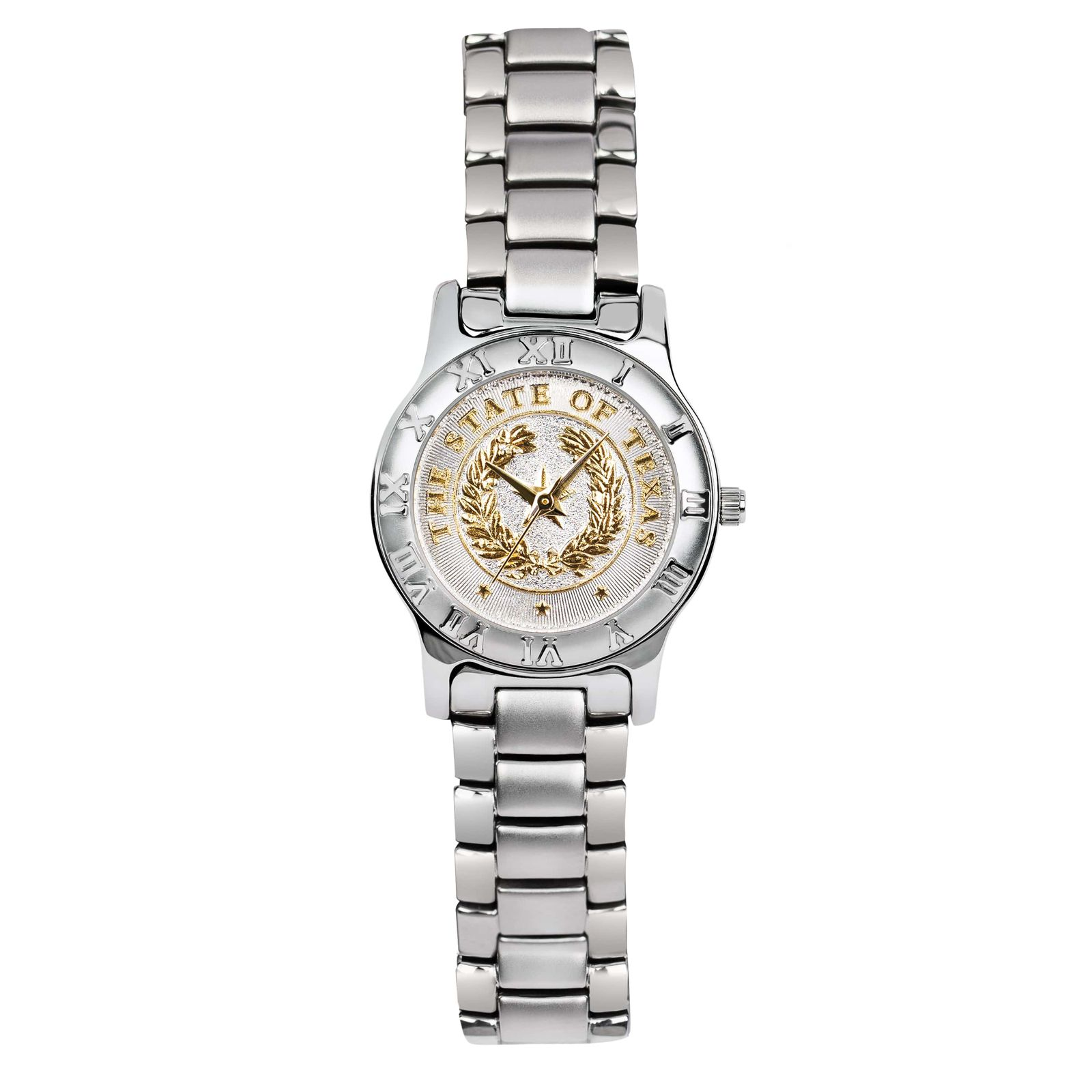 State Seal Silver Tone Small Watch