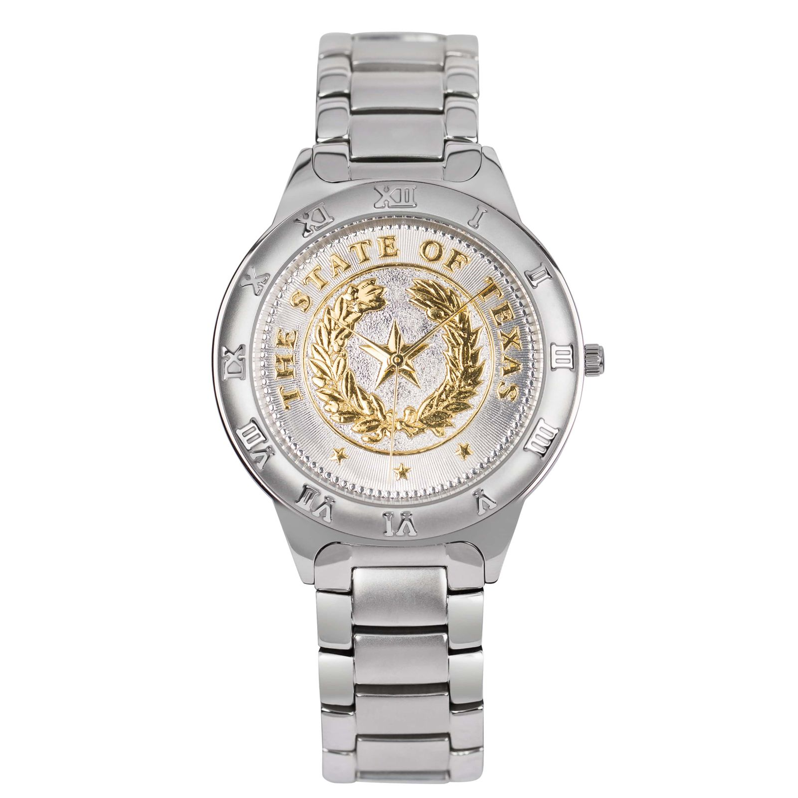 State Seal Silver Tone Large Watch