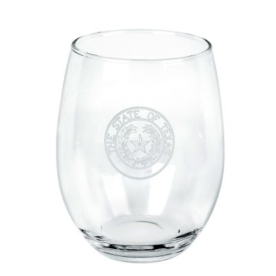 Texas State Seal Stemless Wine Glass