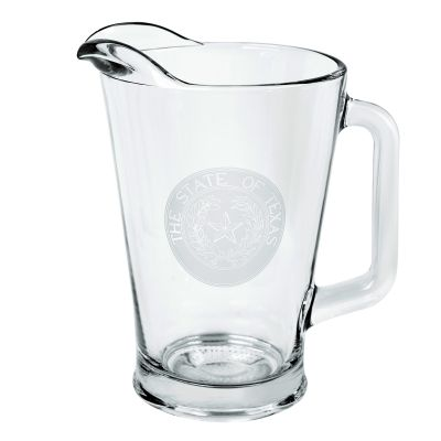 State Seal Glass Pitcher