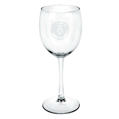 Texas State Seal Stemmed Wine Glass