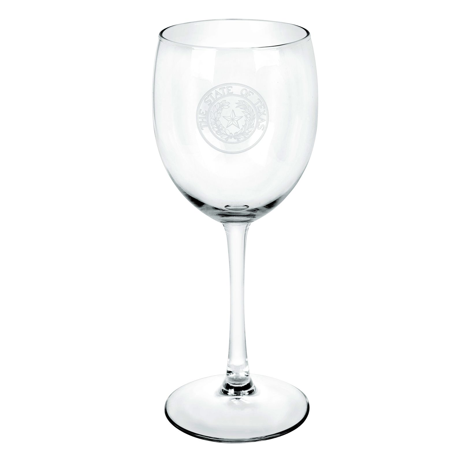State Seal Stemmed Wine Glass