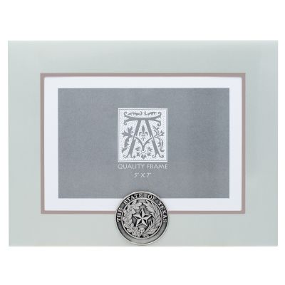 State Seal Silver Metal Photo Frame