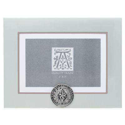 State Seal Silver Metal Photo Frame