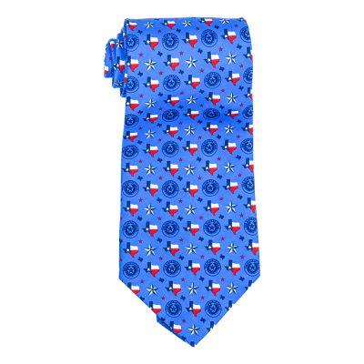 Texas Symbols Silk Tie