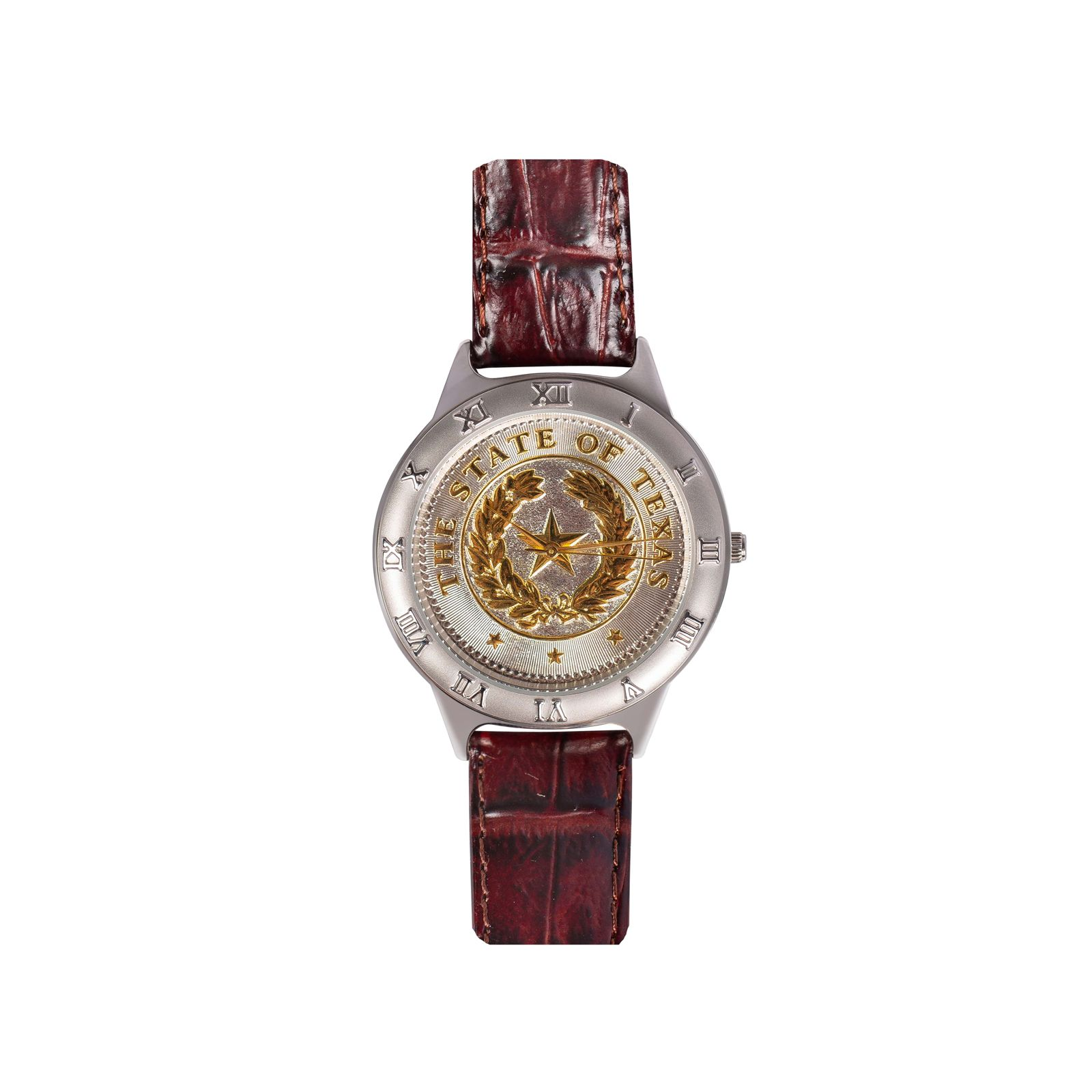 State Seal Small Brown Leather Watch