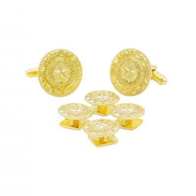 Texas State Seal Gold Tone Tuxedo Set