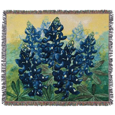 Bluebonnet Cotton Jacquard Throw