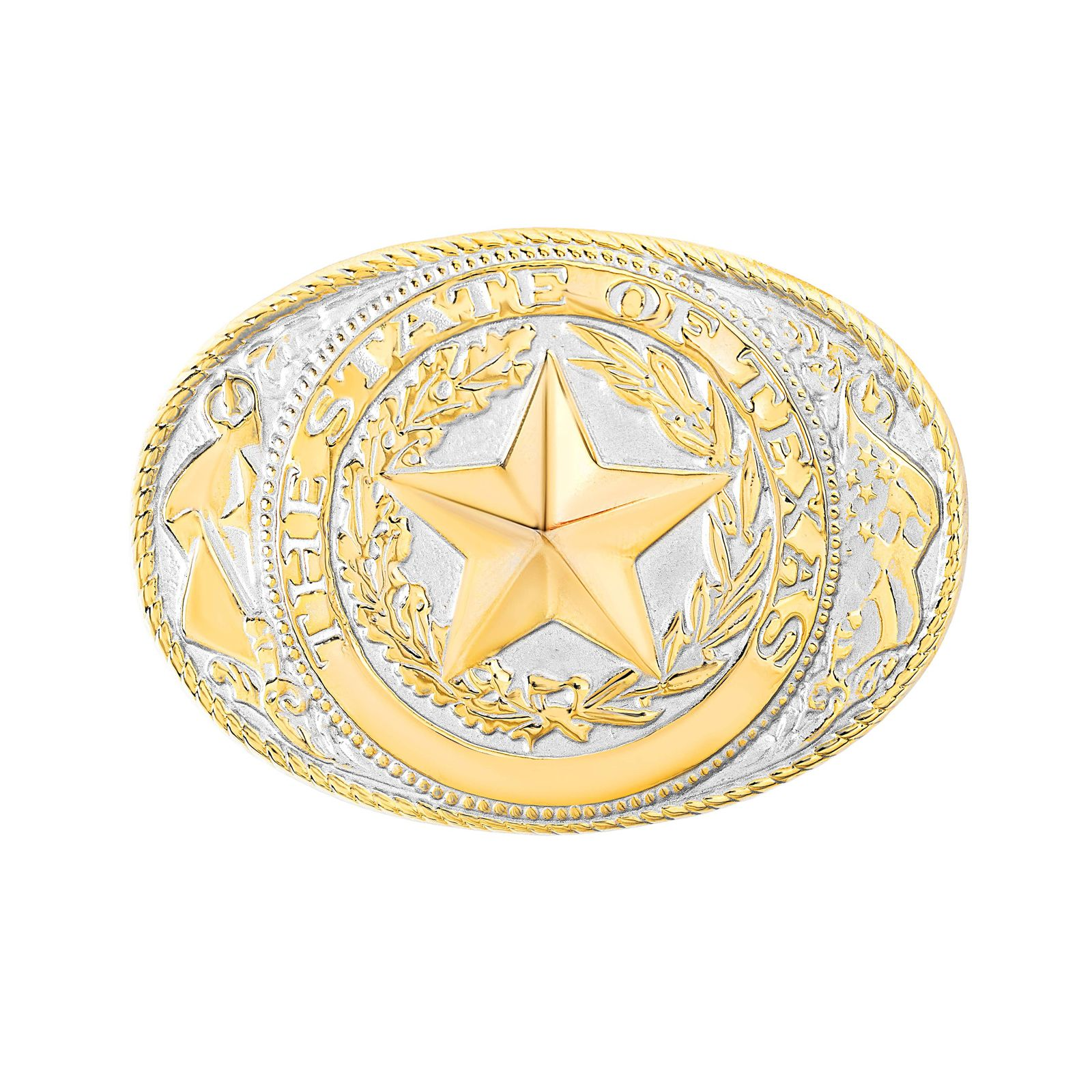 Texas State Seal Two-Tone Belt Buckle