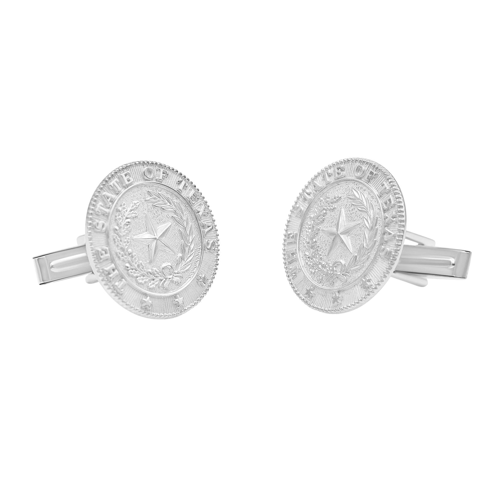 Texas State Seal Sterling Silver Cuff Links