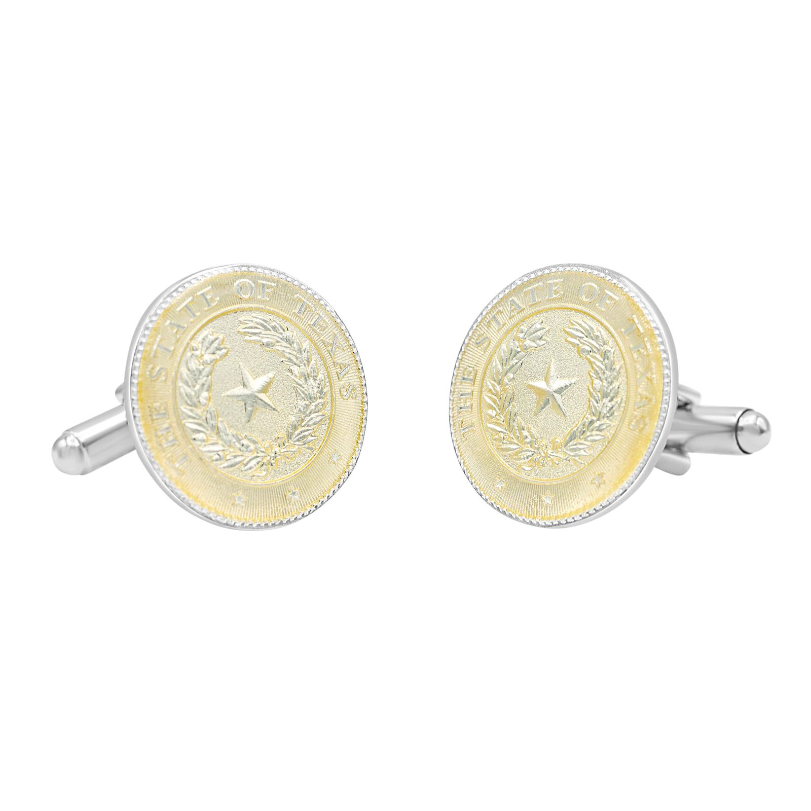 Texas State Seal Two-Tone Cuff Links