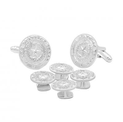 Texas State Seal Silver Tone Tuxedo Set