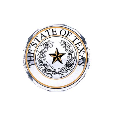 Texas State Seal Crystal Paperweight