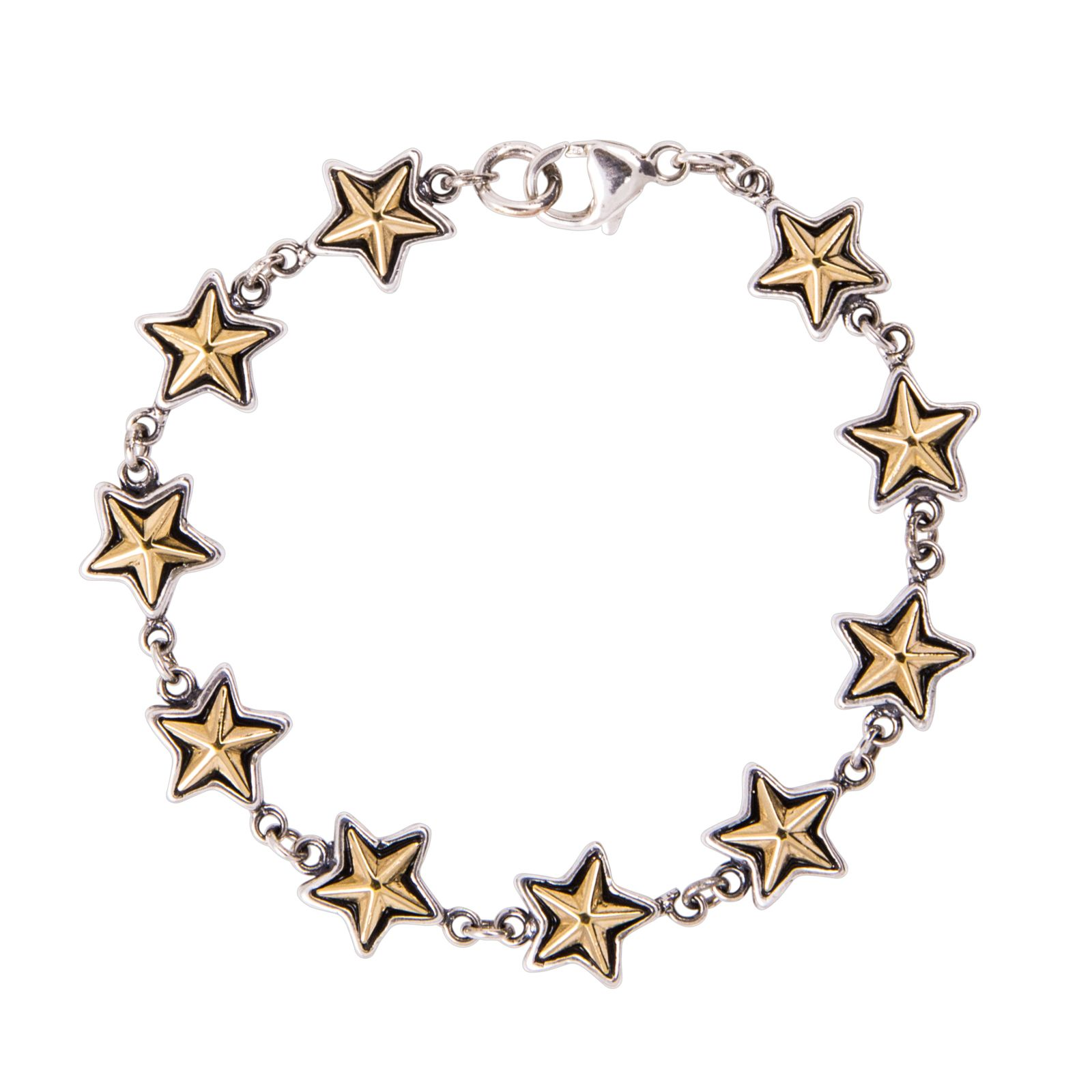 Texas Star Sterling Silver Bracelet