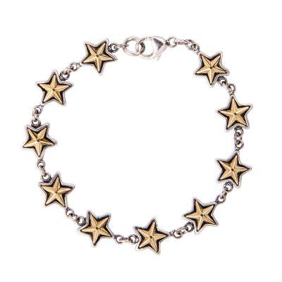 Texas Star Sterling Silver Bracelet