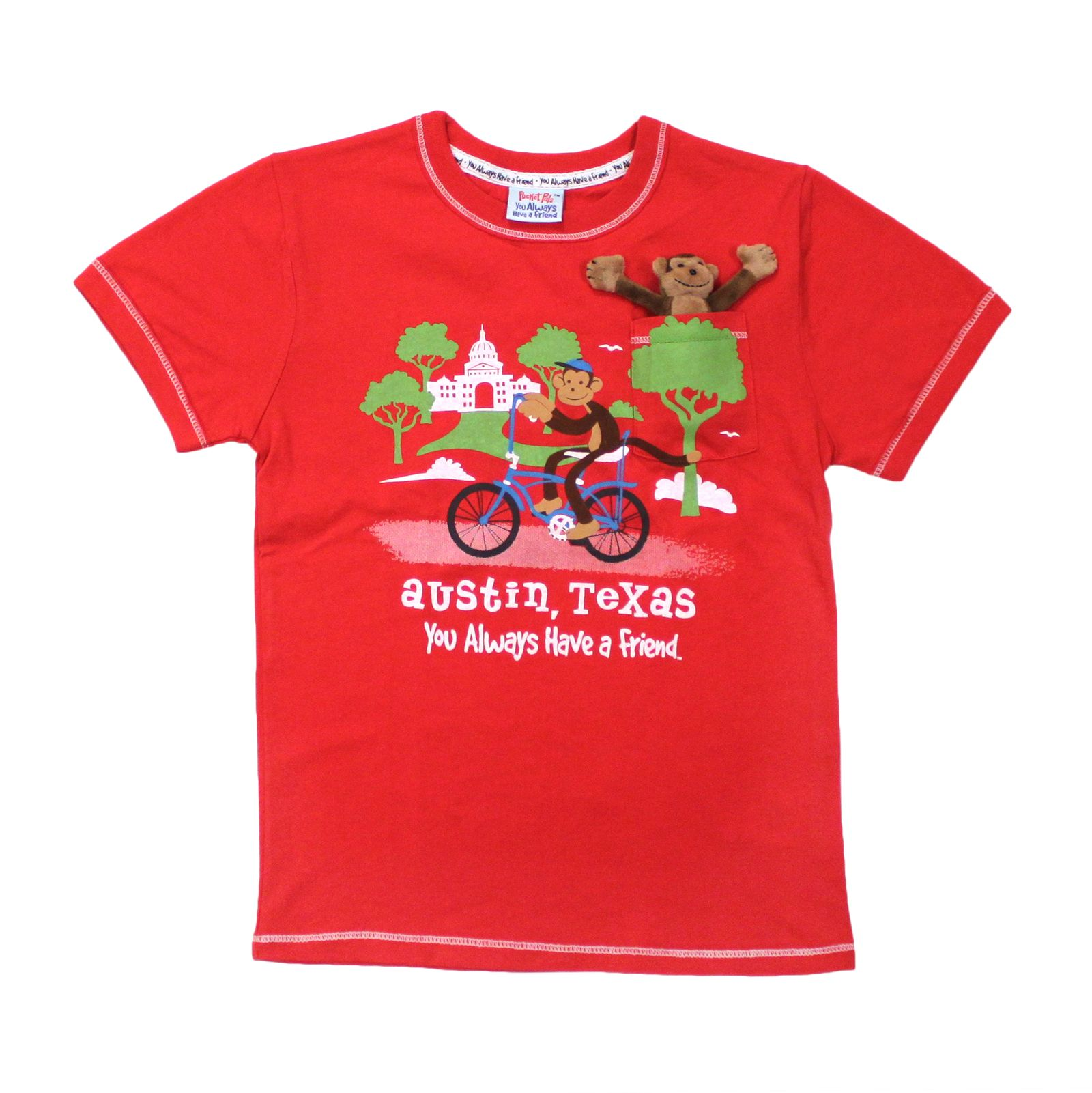 Pocket Monkey Youth T-Shirt