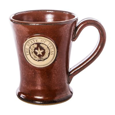 Texas State Seal Red Stoneware Mug