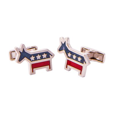 Democrat Sterling Silver Cuff Links