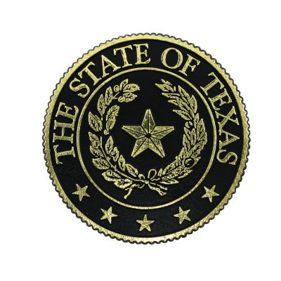 Texas State Seal Gold Tone Magnet