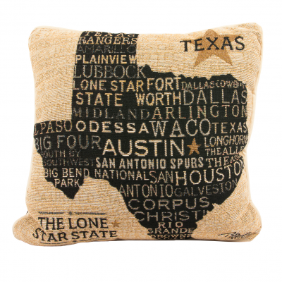 Texas Cities Woven Accent Pillow