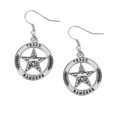 Texas Rangers Silver Tone Star Earrings