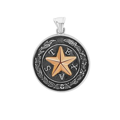 Capitol Chandelier Motif Sterling Silver Large Pendant