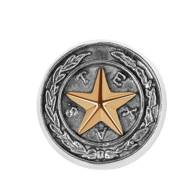 Capitol Chandelier Motif Sterling Silver Lapel Pin