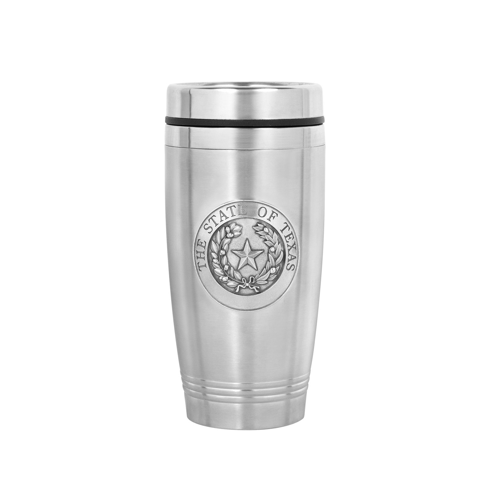 State Seal Stainless-Steel and Pewter Travel Mug