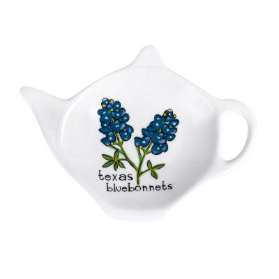 Texas Bluebonnet Ceramic Tea Bag Holder