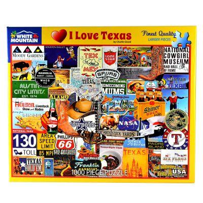 I Love Texas 1000 Piece Puzzle