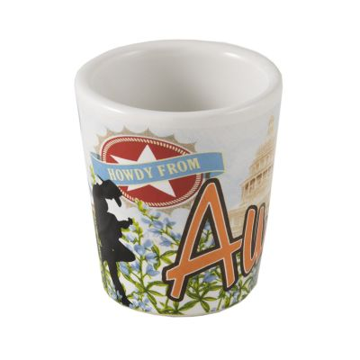 Howdy From Austin Ceramic Shot Glass
