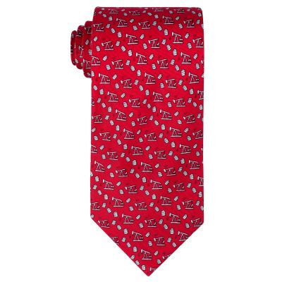 Thirsty Bird Red Silk Tie