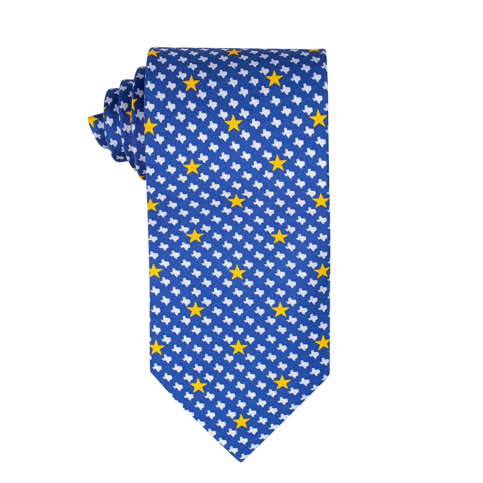 Stars Over Texas Royal Blue Silk Tie