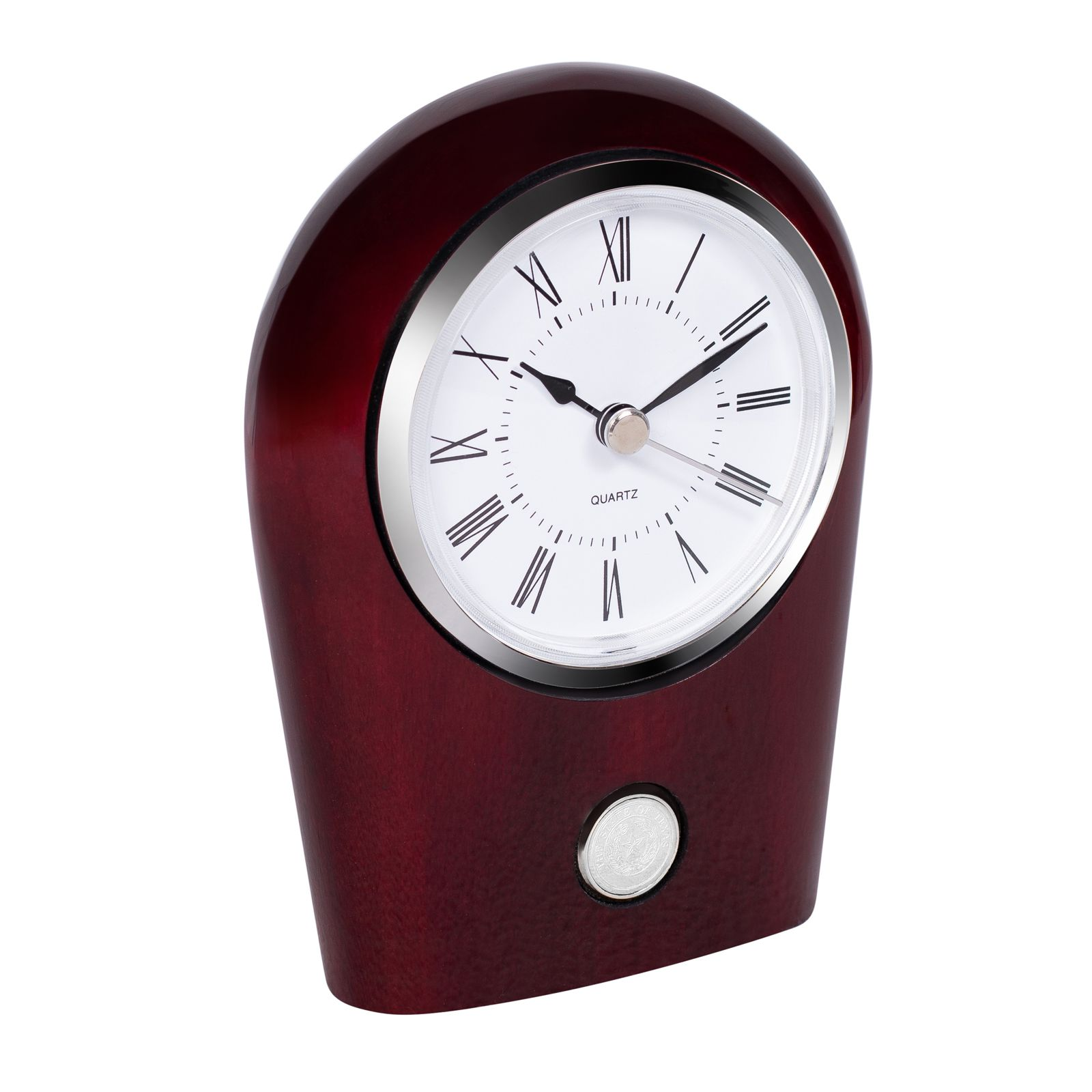State Seal Rosewood Desk Clock