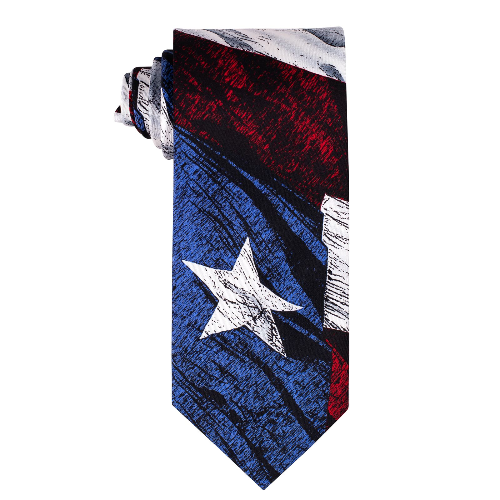 Weathered Texas Flag Silk Tie