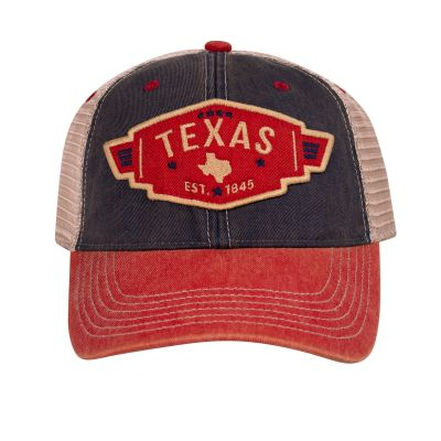 Texas Navy and Red Trucker Cap