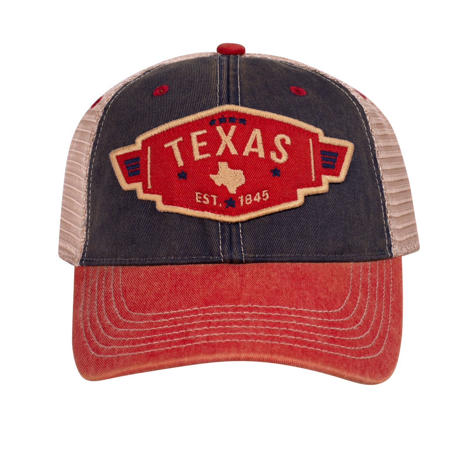 Texas Navy and Red Trucker Hat